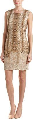 Magaschoni Silk & Cashmere Blend Burnout Knit Dress