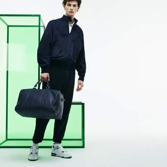 Lacoste Men's Fashion Show Dual Carry Grained Leather Large Boston Bag