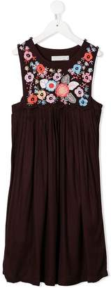 Stella McCartney floral embroidered sleeveless dress
