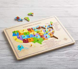 Pottery Barn Kids USA Map Puzzle