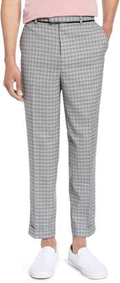 Topman Rococo Mini Check Skinny Fit Dress Pants