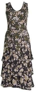 MICHAEL Michael Kors Cascading Floral Midi Dress