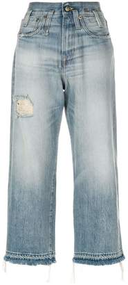 R 13 high waisted cropped jeans