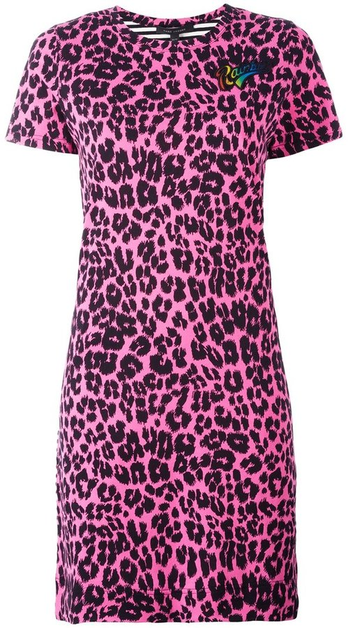 Marc Jacobs Marc Jacobs printed patchwork T-shirt dress