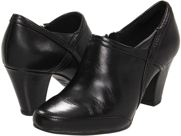 Clarks Diamond Emerald (Black Leather) - Footwear