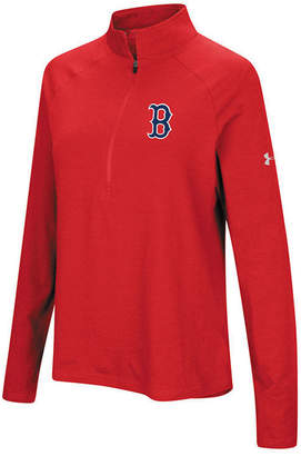 Under Armour Women's Boston Red Sox Passion Half-Zip Pullover