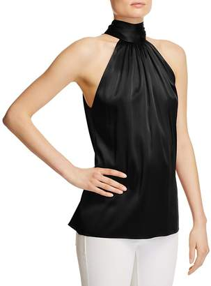 Ramy Brook Paige Tie Neck Silk Top $295 thestylecure.com