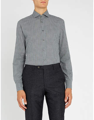 Corneliani Gingham regular-fit cotton shirt