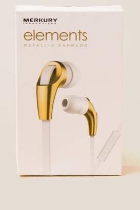 Merkury Elements Gold Metallic Ear Buds