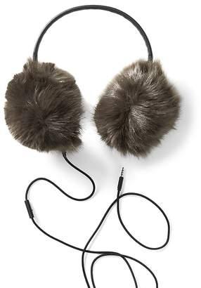 Banana Republic Faux Fur Earmuffs with Headphones