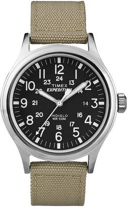 Timex Expedition Scout Mens Tan Strap Watch T499627R