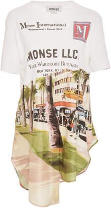 Monse Asymmetric Printed Cotton Shirt