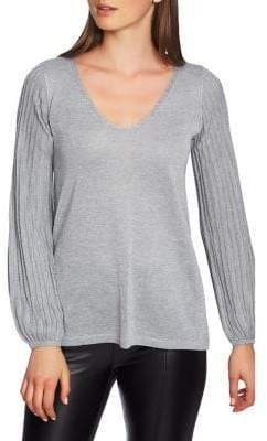 1 STATE Moody Hues V-Neck Sweater