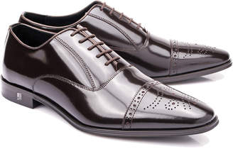 Versace Wingtip Leather Dress Shoe