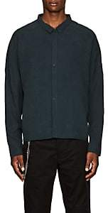 Chapter MEN'S LINEN-BLEND CROP SHIRT-MD. GREEN SIZE S
