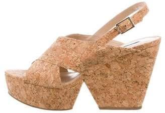 Diane von Furstenberg Cork Wedge Sandals