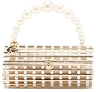 Rosantica By Michela Panero - Medea Faux Pearl Caged Clutch Bag - Womens - Gold Multi