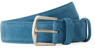 Loro Piana 3.5cm Light-Blue Suede Belt