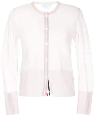 Thom Browne sheer classic silk cardigan