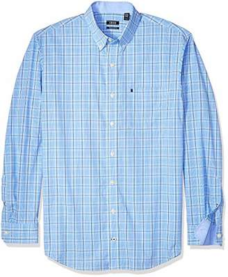 Izod Men's Premium Essential Check Long Sleeve Shirt (Big Tall Slim)