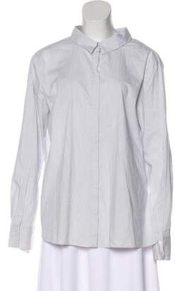 Schumacher Dorothee Pinstriped Long Sleeve Blouse