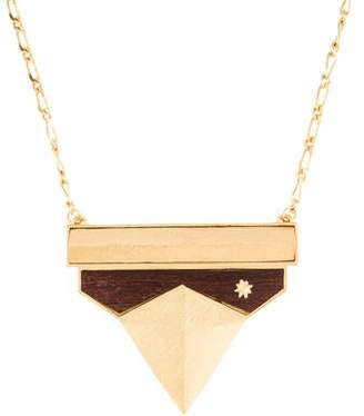 Stephanie Kantis Wood Pendant Necklace