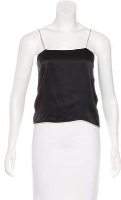Bouchra Jarrar Silk Sleeveless Top