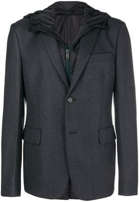 Prada hooded blazer jacket
