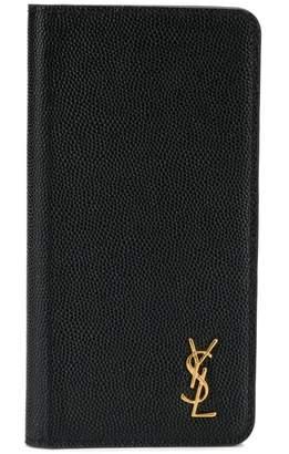 Saint Laurent iPhone X logo flap case