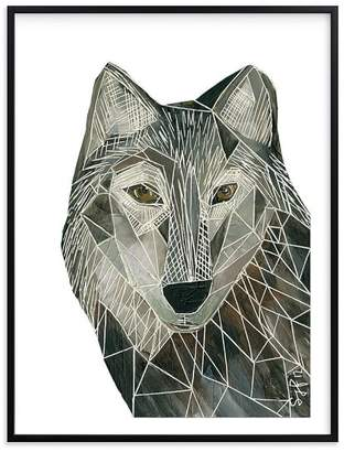 Pottery Barn Teen Senor Wolf, Wall Art by Minted®, 11 x 14, Black