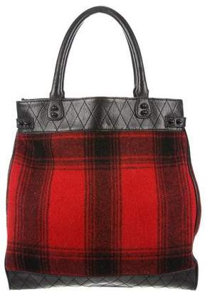 3.1 Phillip Lim Leather & Plaid Wool Tote