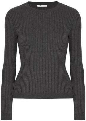 Alexander Wang Ribbed-Knit Merino Wool-Blend Top