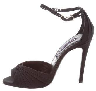 Ralph Lauren Pleated Ankle Strap Sandals