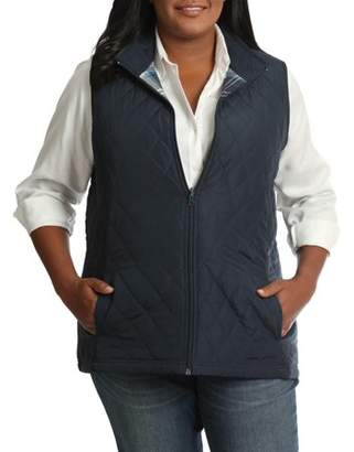 Lee Riders Women's Plus Quilted Reversible Vest