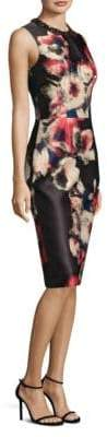 Theia Floral Jacquard Dress