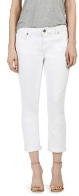 PAIGE Brigitte Rolled Cropped Straight-Leg Jeans $189 thestylecure.com