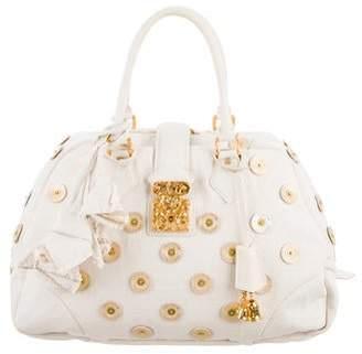Louis Vuitton Bowly Polka Dot Panama Bag