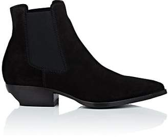 Saint Laurent Men's Theo Suede Chelsea Boots - Black