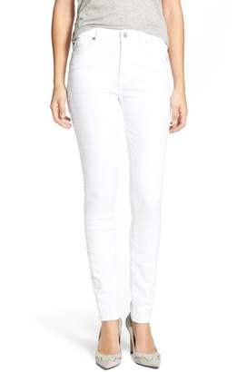7 For All Mankind 'The Skinny' Skinny Jeans (Clean White)