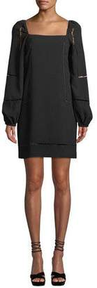Trina Turk Natalia Bubble-Sleeve Mini Dress