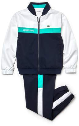 Lacoste Boys' SPORT Colorblock Taffeta Tennis Tracksuit