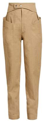Isabel Marant Lixy Belted High Rise Tapered Trousers - Womens - Khaki