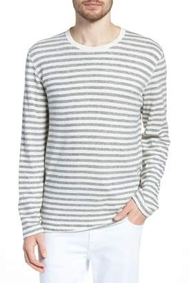 Billy Reid Long Sleeve Striped Tee