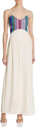 Saylor Embroidered Cutout Maxi Dress - 100% Exclusive $264 thestylecure.com