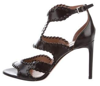 Alaia Leather Cage Sandals w/ Tags