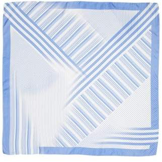 Lafayette 148 New York Stripe Silk Twill Scarf
