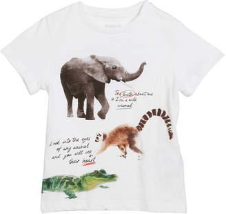 Mayoral Short-Sleeve Animal Graphic T-Shirt, Size 3-7
