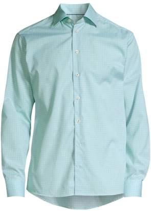 Eton Cotton Check Contemporary-Fit Dress Shirt