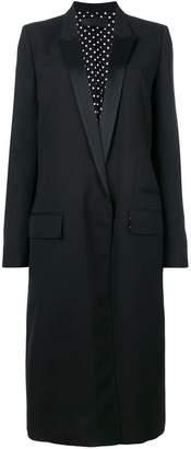 Haider Ackermann peaked lapels long coat