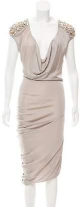 Alexander McQueen Embellished Sleeveless Dress w/ Tags